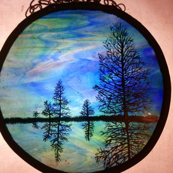 aurora borealis trees