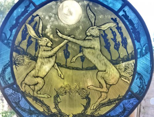 boxing moonlight Hares