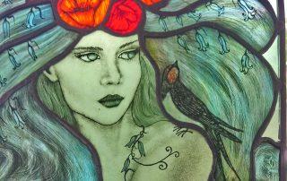 spring green lady